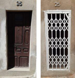 instalación ballesta puerta manresa antes y después