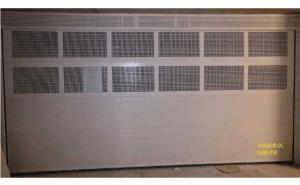 puerta garaje seccional con ventilación
