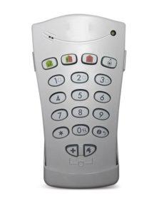 teclado control alarma